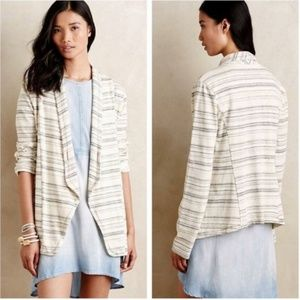 Anthro Saturday Sunday Wide Ruled Knit Blazer